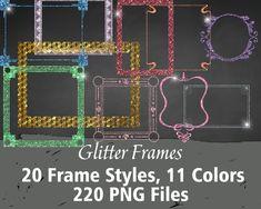 Printable/Digital Glitter Frame Clip Art Printable Numbers, Printable Letters, Printable Paper, Glitter Frame, Minnie Mouse Pink, Making Shirts, Frame Clipart, Pink Paper, Alphabet And Numbers