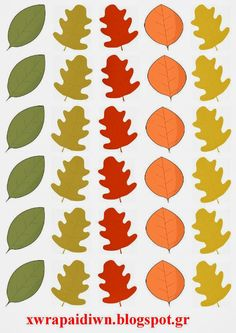 """""""Ταξίδι στη Χώρα...των Παιδιών!"""": """"Φύλλα φθινοπωρινά μετρώ... στο σωστό καρότσι να τα βάλω προσπαθώ!"""" - Παιχνίδι αντιστοίχησης αριθμού με πο... Autumn Activities, Craft Activities, Autumn Crafts, Plant Leaves, Projects To Try, Seasons, Blog, Maths, Parenting"""