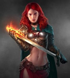 Redraw by Imthonof u Female Pictures, Fantasy Pictures, Fantasy Images, Dnd Characters, Fantasy Characters, Female Characters, Fantasy Art Warrior, Character Art, Character Design