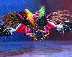 Rooster Painting, Rooster Art, Cartoon Rooster, Rooster Tattoo, Eye Liner Tricks, Game Birds, Mexican Art, Exotic Birds, Bird Art