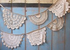 Vintage Doily Bunting. Crochet Vintage doilies by buntingboutique, £28.00