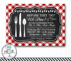 Are you hosting an Italian themed event? With the perfect red checked table cloth and chalkboard, these invitations will surely set the tone