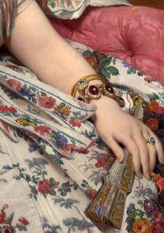 Ingres: Madame Moitessier (detail), 1856.