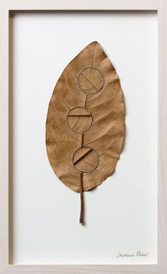 Dwelling Susanna Bauer specialises in delicate organic sculptures crafted from leaves, stones, wood and cotton yarn. Internal Workings Close Small Bauer stitches the materials precisely and accurately