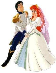 Walt Disney Clip Art - Prince Eric & Princess Ariel wallpaper probably with a polonaise in The Disney Princess Club