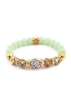Crystal Rina Bracelet in Sage on Emma Stine Limited