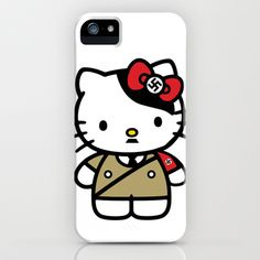 Evil Kitten: Heil Kitty iPhone & iPod Case by kxyzle - $35.00