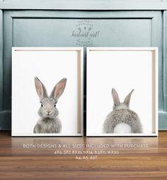 Bunny butt Rabbit print Easter decor PRINTABLE por TheCrownPrints