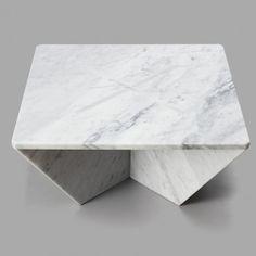Marble!   Plus, this is genius.Joe Doucet designs flat-pack marble furniture  for New York's Cooper-Hewitt museum.