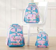 90f27221d784 Mackenzie Pink Mermaid Backpacks  pbkids Personalized Backpack