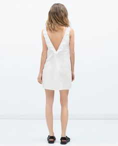 Back frills might be out, but I still like the back frill.  Again - price is indicative of how little fabric there is on this dress.  Plus side, it's 100% cotton so you can throw it in the washer!  Zara - $39.90