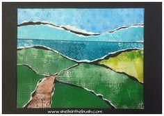 Gelli print landscape by Michelle Reynolds.