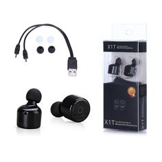 Hot X1T Mini Twins Voice Prompt True Wireless Bluetooth Earphones CSR 4.2 Sport Stere Handsfree Earbuds for iPhone 7 Airpods