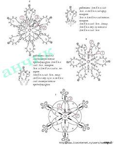 crochet snowflake diagram - Google Search