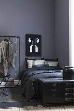 Blå/Grå/Lilla væg maling