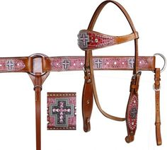 Showman Alligator Print Overlay Rhinestone Cross Headstall and Breast Collar Set | ChickSaddlery.com