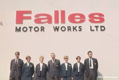 Falles Hire team, 1960's. Do you recognize any faces?