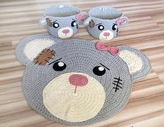 "RugMyBaby Nursery Rug Cute Bear Design Home Decoration Area Rugs Environmental Anti-slip Bedroom/Living Room Carpet Mat Baby Crawling Mats Kids Play Mat Machine Washable Rugs (round 29"") >>> You can get more details here : Handmade Gifts"