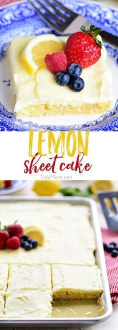 This no-fuss lemon sheet cake is super moist and makes a wonderful spring or summer dessert that easily feeds a crowd. It may not be a fancy cake, but each slice is pure lemon bliss!