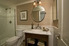pinterest small bathroom designs | Bathroom / Big Design- Small space. Zuniga Interiors