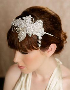 Silver Crystal Great Gatsby Bridal Hair Piece