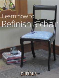 How to refinish a flea market chair - with @Jenn L & Kitty O'Neil