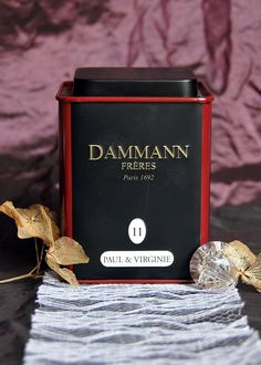 A romantic cup of tea with blend Paul & Virginie from Dammann Frères Paris.