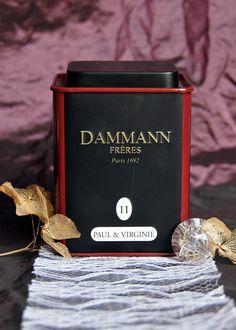 A romantic cup of tea with blend Paul & Virginie from Dammann Frères Paris.