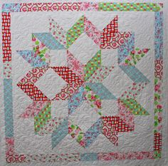 Half-square triangles - Christmas quilt?