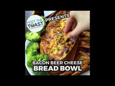 Bacon Beer Cheese Bread Bowl - Host The Toast