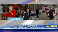 Police Union 'Disappointed & Shocked' After Being Snubbed by Hillary