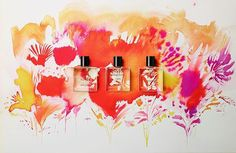 Miller Harris Limited Edition Summer Collection in collaboration with Cyril Destrade Summer 2014, Summer Collection, Your Favorite, Collaboration, Perfume, Colours, Creative, Illustration, Artwork