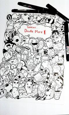 #doodle: talk less doodle more by YESSIOW.deviantart.com on @deviantART