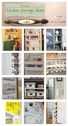 Clever kitchen organization ideas. Click through for full projects.