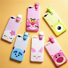 Cartoon 3D cute disney cat Mike Sulley Panther Case Cover for iPhone 7 6 6S plus #UnbrandedGeneric