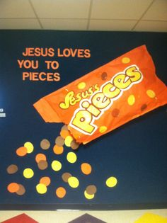 sunday school bulletin boards | Jesus Loves You To Pieces Bulletin Board | Sunday School Bulletin B...