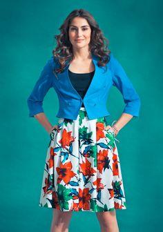 Hame ja jakku SK7/14. Sewing, Floral, Skirts, Fashion, Florals, Dressmaking, Moda, Couture, La Mode