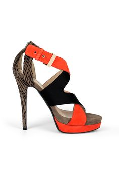 fall 2012, Burak Uyan, shoes, high heels, platforms, black, brown, orange