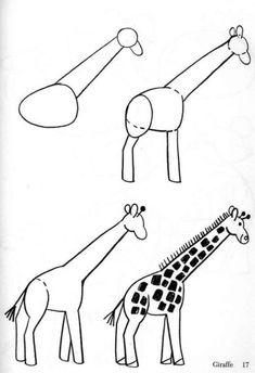 HOGYAN RAJZOLJ ÁLLATOKAT? - tanitoikincseim.lapunk.hu Art Drawings For Kids, Drawing For Kids, Easy Drawings, Animal Drawings, Drawing Ideas, Pen Drawings, Drawing Lessons, Art Lessons, Easy Drawing Tutorial