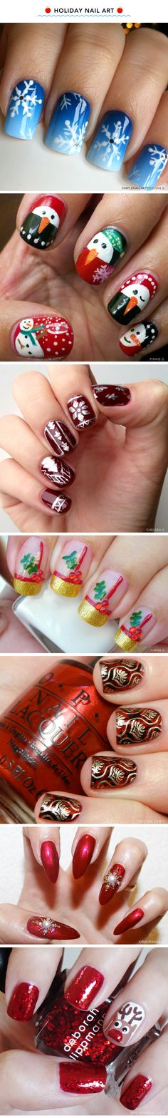7 Santa-Approved Christmas Manicures ~~~~~~~~~~~~~~~~ Oh my god 2, 3, and 4 ❤❤❤❤❤❤ t_rektar