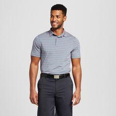 Men's Stripe Golf Polo Shirt - C9 Champion - Blue Stripe M