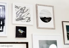 Copy Cat Chic | Updating my living room gallery wall with @minted