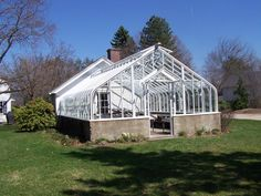 An old greenhouse refinished back to health.