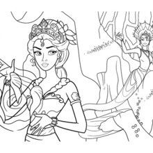 CALISSA QUEEN OF THE MERMAID WORLD Coloring Page