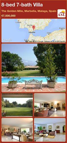 8-bed 7-bath Villa in The Golden Mile, Marbella, Malaga, Spain ►€7,500,000 #PropertyForSaleInSpain