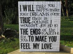 """16x20 """"Make you feel my love """" Bob Dylan Vintage music sheet canvas art by House of 3"""
