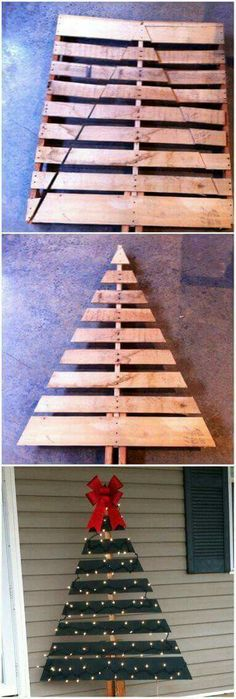 Christmas tree pallet project decoration More