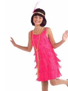 For the parade! $14.90 Hot Pink Child Flapper Costume | Wholesale 20's Halloween Costumes for Girls