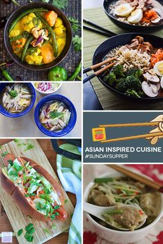 Do you know your Asian noodles? Find out and check out the collection of Asian Inspired recipes. #SundaySupper. Visit www.sundaysuppermovement.com for recipes and tips to bring your family back to the dinner table.