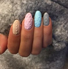 The latest nail art trend mimics the cable knit texture of your coziest sweater. Sweater nail art is perfect for fall and winter!